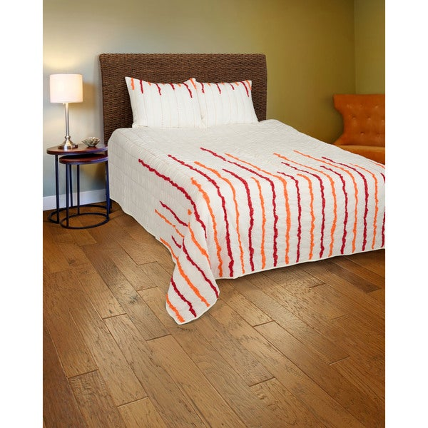 Rizzy Home Red and Orange Quilt Set