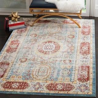 Safavieh Valenica Blue/ Multi Polyester Rug (4' x 6')