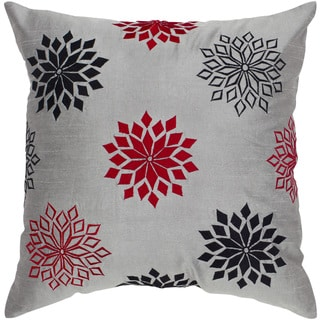 Rizzy Home Grey Starburst Square Pillow Cover
