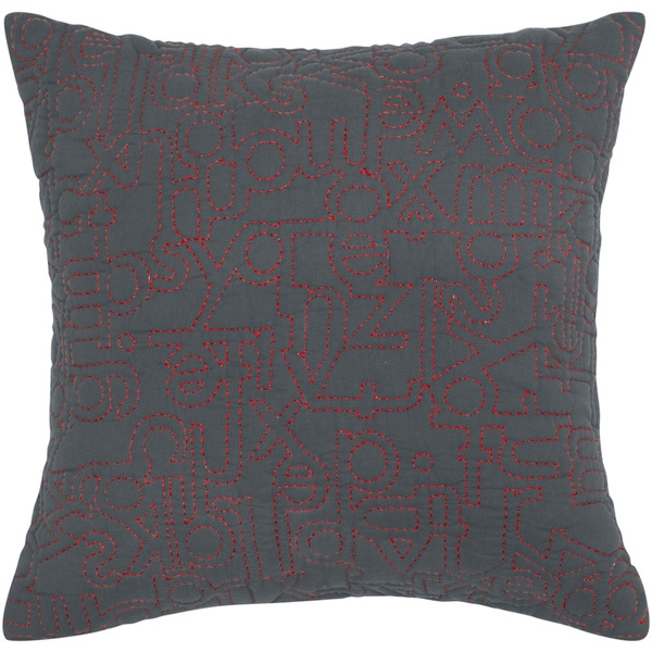 Rizzy Home Dark Khaki Square Pillow Cover