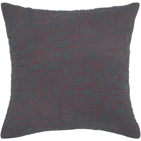 Rizzy Home Dark Khaki Square Pillow Cover