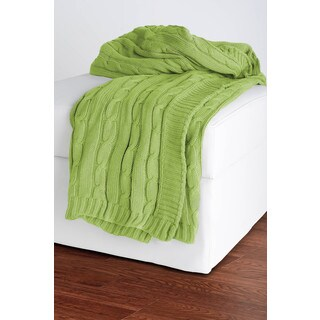 Rizzy Home Lime Decorative Throw
