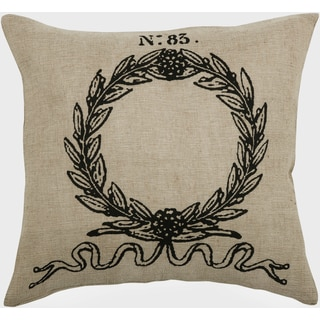 Rizzy Home Natural Laurel Wreath Square Pillow Cover