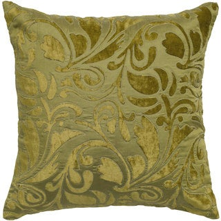 Rizzy Home Green And Grey Paisley Square Pillow Cover