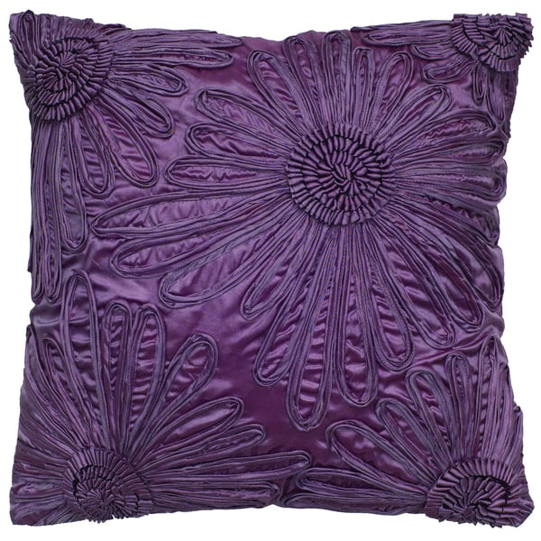 Rizzy Home Plum Square Pillow Cover