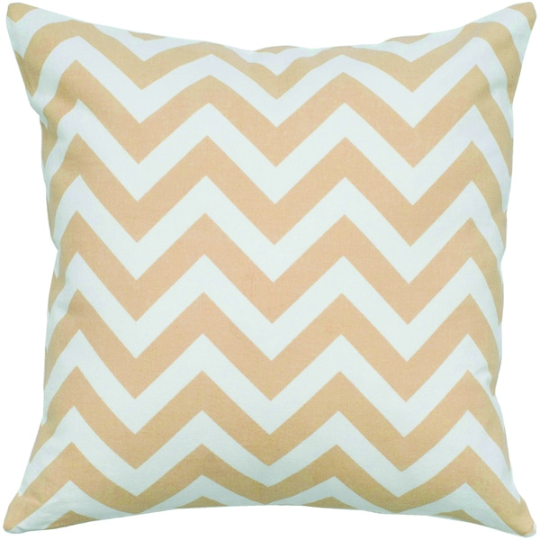 Rizzy Home Natural Chevrons Square Pillow Cover