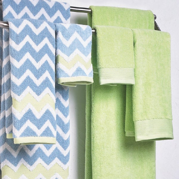 600 GSM 100-percent Egyptian Cotton Yarn Dyed Chevron 6-piece Towel Set