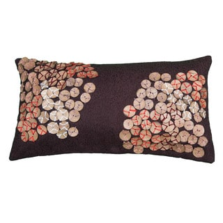 Rizzy Home Brown And Plum Rectangle Pillow Cover