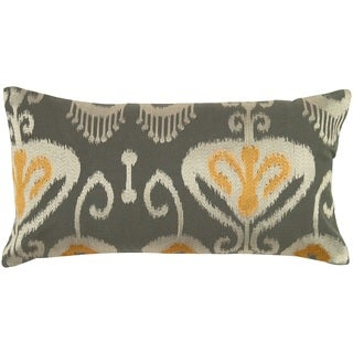 """Rizzy Home 11"""" x 21"""" Ikat Accent Pillow"""