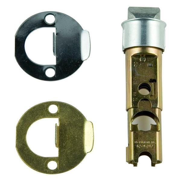 Kwikset Polished Brass/Satin Chrome Mobile Home Interior Hall/Closet Conversion Kit