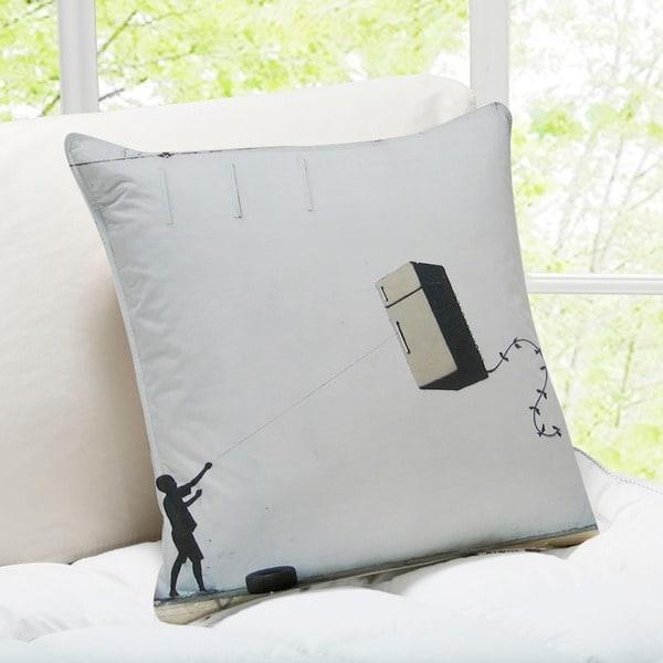 Banksy Art 'Fridge Kite' New Orleans Throw Pillow