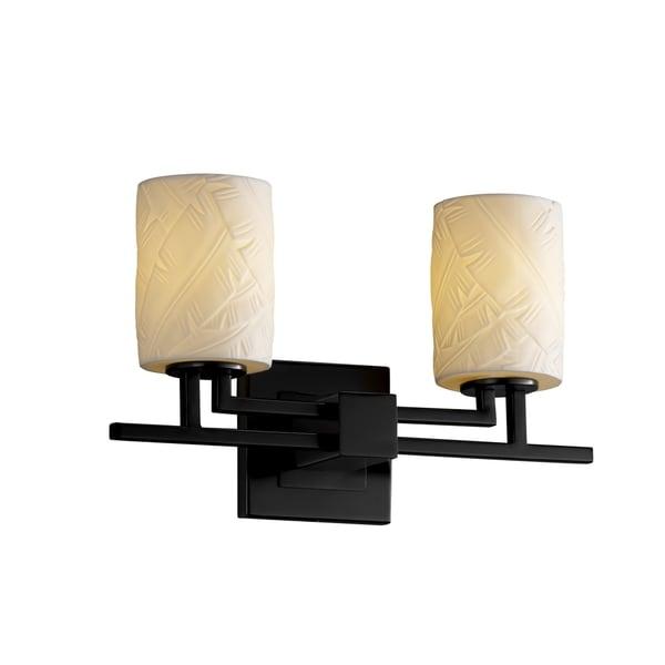 Justice Design Group Limoges Aero 2-light Black Bath Bar