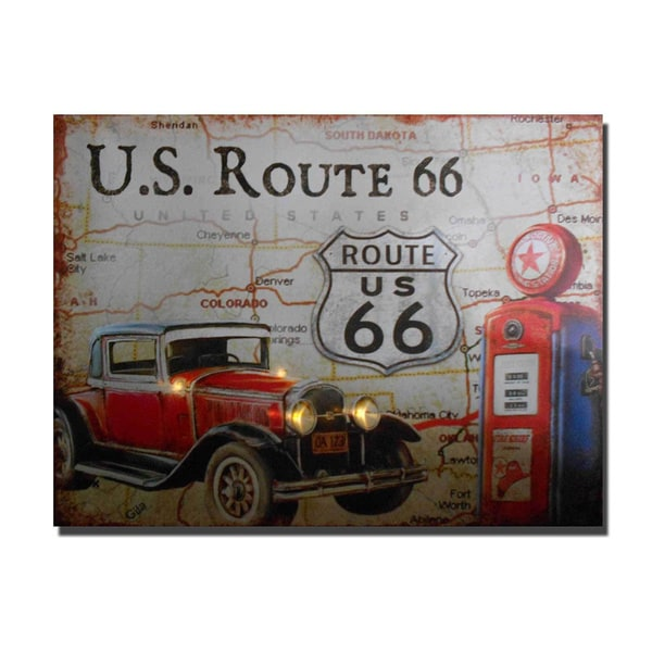 Lighted Canvas Route 66 Car