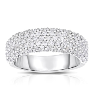 Eloquence 14k White Gold 1ct TDW Diamond Pave Ring (H-I, SI1-SI2)