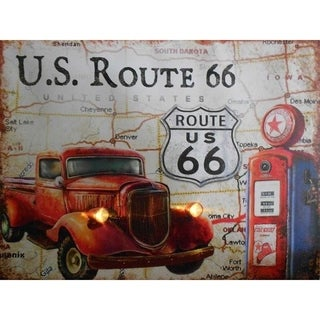 Lighted Canvas Route 66 Truck