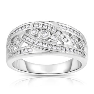 Eloquence 14k White Gold 1/4ct TDW Diamond Fashion Ring (H-I, I1-I2)
