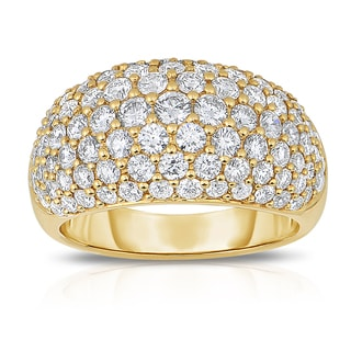 Eloquence 18k Yellow Gold 2 1/2ct TDW Diamond Pave Ring (H-I, SI1-SI2)