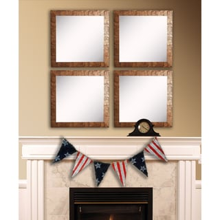 American Made Rayne Safari Bronze Square Wall Mirror Set