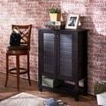 Furniture of America Pilton Cappuccino Slatted 5-shelf Shoe Cabinet