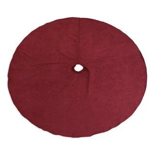 Victory Lane Crimson 53-inch Round Hemmed Tree Skirt