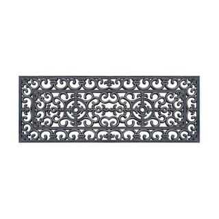 """Rubber Grill Elegant Double Doormat (17.7"""" x 47"""")"""