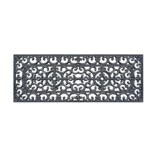 """Rubber Grill Hand Finished Elegant Large Double Doormat 17.7"""" X 47"""""""