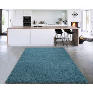 Cozy Shag Collection Shaggy Area Rug (3'3 x 4'7)