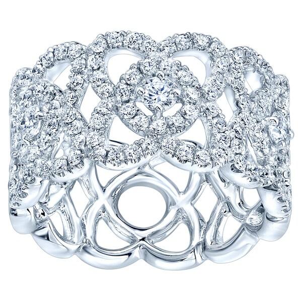 14k White Gold 5/8ct TDW Diamond Fashion Ring (H-I, VS1-VS2)