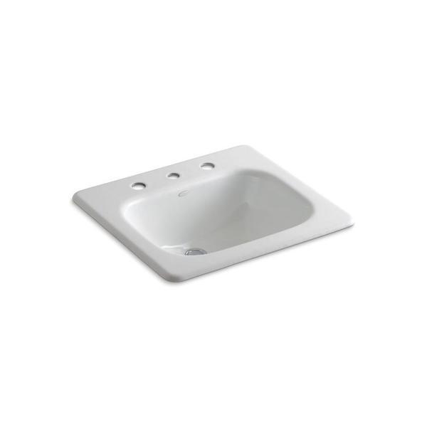Kohler Tahoe Self-rimming Cast-iron Bathroom Sink in White