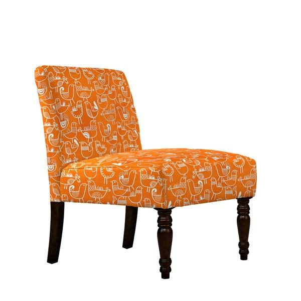 angelo:HOME Bradstreet Bird Flock Vintage Orange and Cream Armless Chair