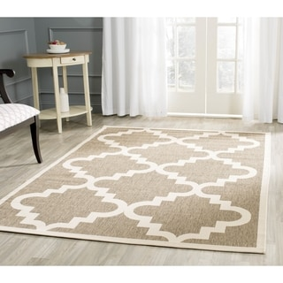 Safavieh Indoor/ Outdoor Moroccan Courtyard Brown/ Beige Rug (9' x 12'6)
