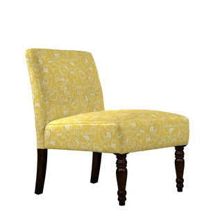 angelo:HOME Bradstreet Bird Flock Saffron Yellow and Cream Armless Chair