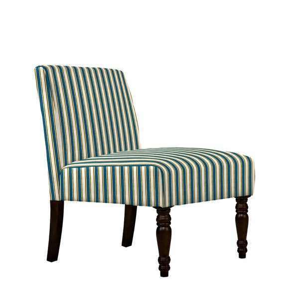 angelo:HOME Bradstreet Cottage Stripe Turquoise Blue Armless Chair