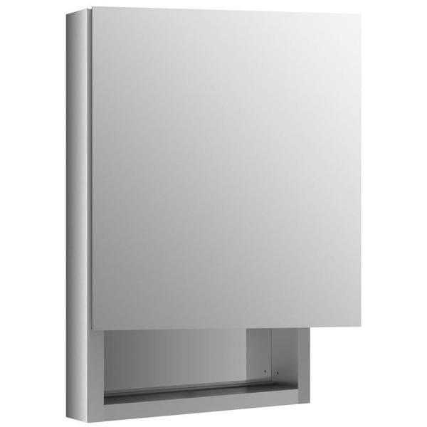 Kohler Verdera 20 inch W x 30 inch H Recessed Medicine Cabinet in Anodized Aluminum