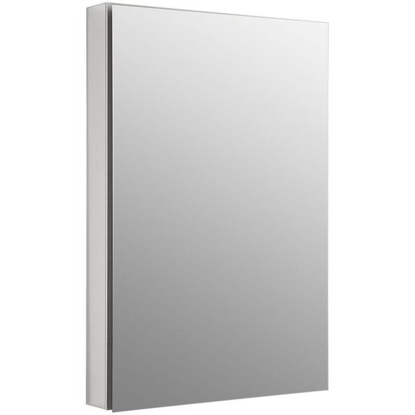 Kohler Catalan 24.125 inch W x 36 inch H x 5 inch D Recessed/ Surface Mount Medicine Cabinet in Satin Anodized Aluminum
