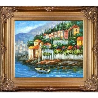 Italy at Dusk' Hand Painted Framed Canvas Art