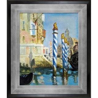 Edouard Manet 'The Grand Canal, Venice' Hand Painted Framed Canvas Art