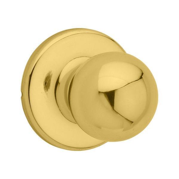 Kwikset Polo Polished Brass Hall/Closet Knob