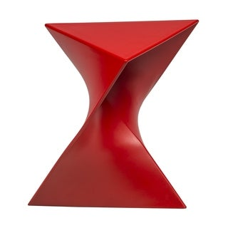Quinzy Modern Red Polycarbonate 16-inch Vanity Stool