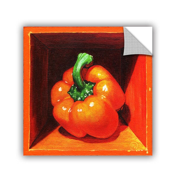 ArtAppealz Paige Wallis 'Orange Bell' Removable Wall Art