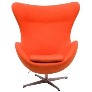 Modena Orange Wool Upholstered Chair