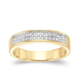Auriya 14k Yellow Gold 1/6ct TDW Diamond Band (H-I, SI2-SI3)