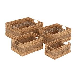 Seagrass Rectangular Baskets (Set of 4)