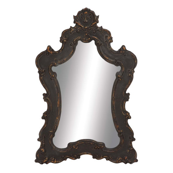 Embossed Brown Vintage Mirror
