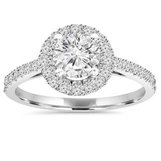 Bliss 14k White Gold 1 ct TDW Diamond Round Wedding Ring (H-I ,SI1-SI2)