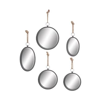 Traditional Beveled Round/ Oval Floating Mirrors (Set of 5)