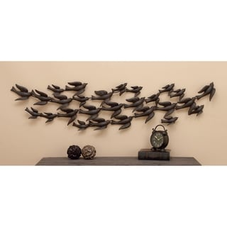 Iron Flock of Birds in Flight Wall Sculpture