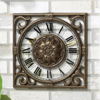 Whitehall Irongate Clock - French Bronze