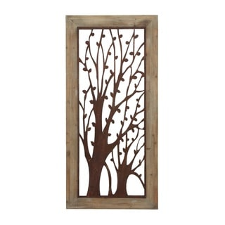 Copper Grove Hyssop Rustic Tree Branch Cutwork Wall Panel