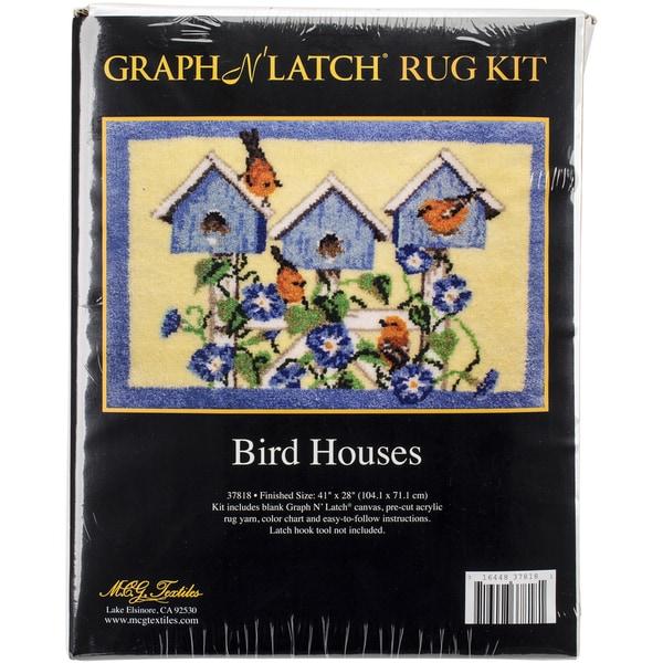 "Latch Hook Kit 41""X28""-Bird Houses"